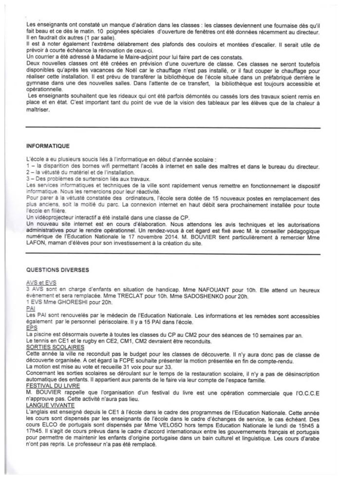 Compte rendu du conseil d'école Reveil Matin du 6 novembre 2014-3