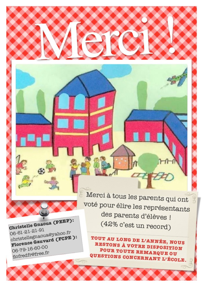 Merci aux parents de l'école Allende