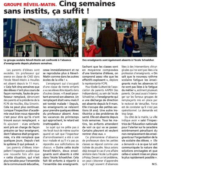 ProfsAbsents courrier des Yvelines_13 04 2016