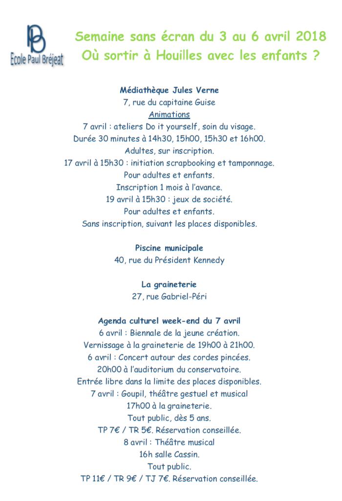 Adresses Houilles_Semaine Sans écran_v2