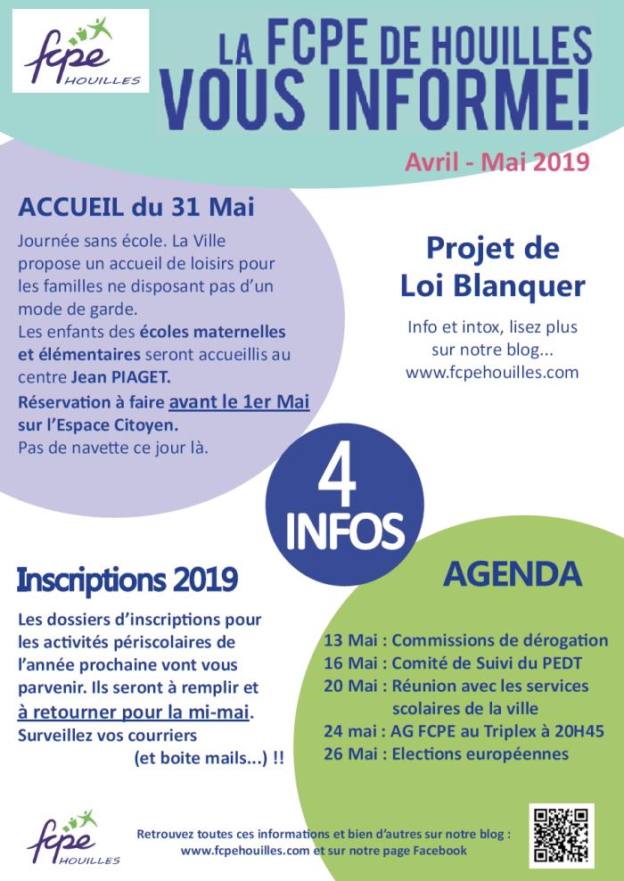 FCPE Vous Informe_Avr-Mai-19